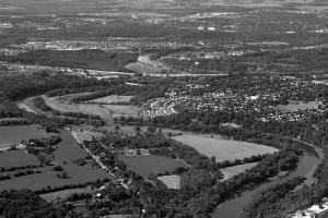 aerial shot of wellington ontario